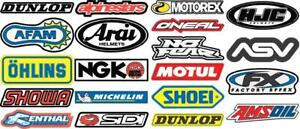 Motorcycle-Colour-Laminated-Swingarm-Frame-Stickers-MX-Sport-1-x-sheet-Set-Five