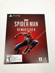 Unused-Marvel-039-s-Spider-Man-Remastered-for-PS5-Insert-ONLY-PlayStation-5-DLC-ONLY