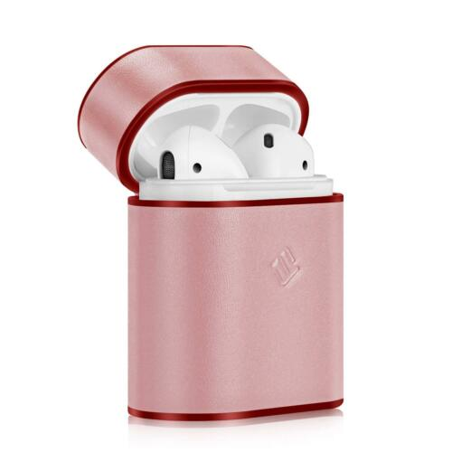 For Apple AirPods Charging Case Genuine Leather Coated Hard Cover Portable Skin