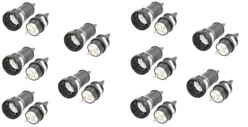 91483 10 pièces schuko connecteur et embrayage 16a 250v protection contact ip44