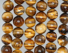 12MM COGNAC TIGER EYE GEMSTONE GRADE B ROUND LOOSE BEADS 15.5""
