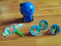 Vintage 2003 Deco Pac Oswald The Octopus Pullback Cake Pick Three Rings
