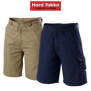 Mens-Hard-Yakka-Legends-Light-Weight-Cargo-Shorts-Cool-Work-Cordura-Tough-Y05906