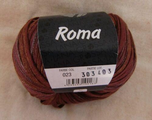 11,90 €//100 G : 50 g lg romaníes 023 FB baumwollbändchen con metallic-presión #4392
