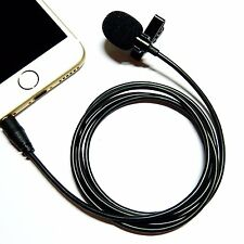 Deluxe Lavalier Lapel Clip-On Omnidirectional Condenser Microphone For Phones