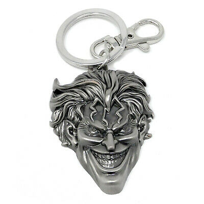 The Joker Pewter Keychain Silver