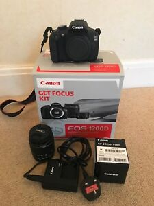 Details about Canon EOS 1200D 12 0MP Digital SLR Camera Get Focus Kit with  2 lenses