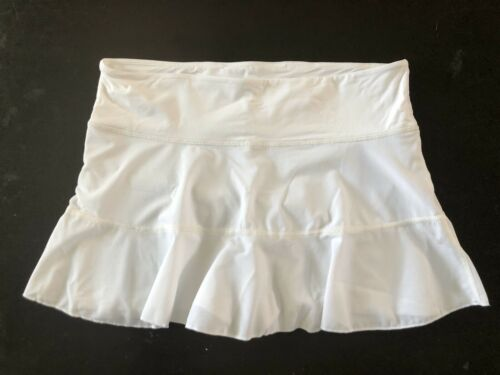 NWOT Graced By Grit Large Mesh Active Skort White  Built In Shorts $76 Luxe #FT