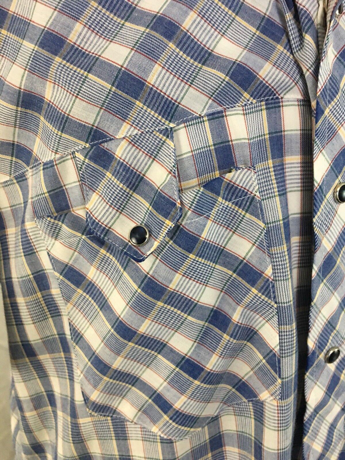 Miller Miller Miller Pearl Snap Shirt Vintage Siz… - image 4