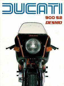 1983 Ducati 900S2 dual seat, 4 page brochure, BLACK bike - RED frame