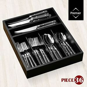 36 Piece Cafe Cutlery Set Stainless Steel Knives Forks