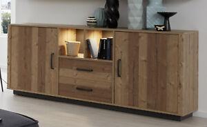 Details zu Sideboard Kommode Wohnzimmer Esszimmer Anrichte in Fichte  Bramberg 194 cm Lodge