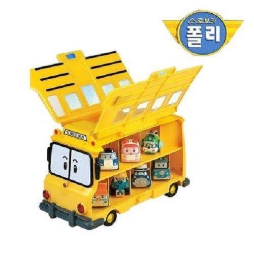 Robobilpole Lekplatsbusssen Barn Robobil TV Leksaker för förskolor Spela -va