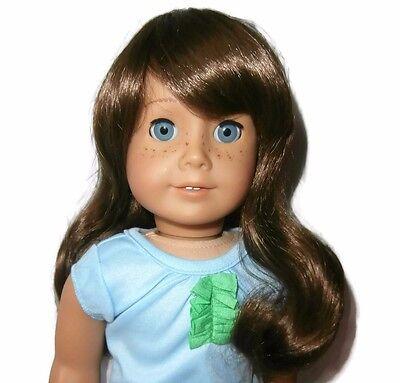 "Custom Doll Wig 10-11"" Brown - Fits Samantha JLY 7 9 13 19 34"