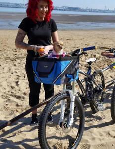 3f85fc25ffd4 Details about Foldable Pet Dog Cat Bicycle Front Basket Bag Bike Carrier  Shopping Travel Case