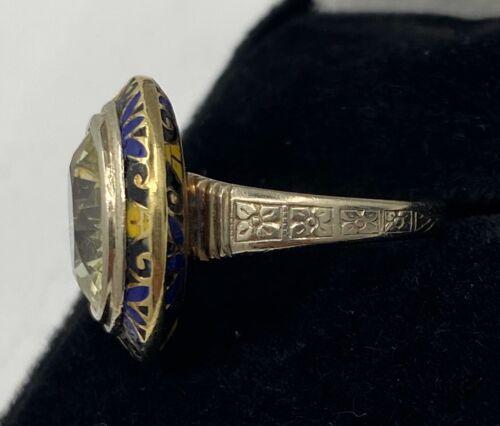 Antique Enamel Gemstone Ring