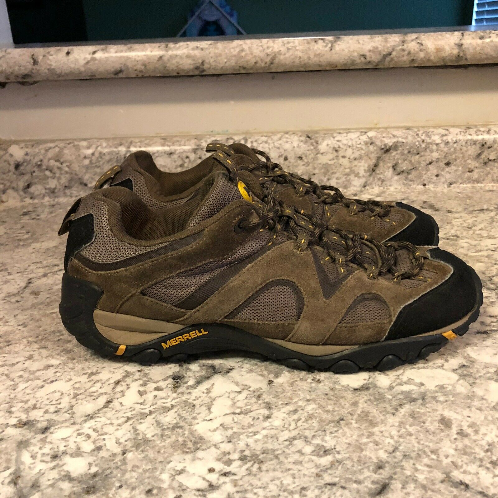 Merrell Brown Stone Old Gold Leather