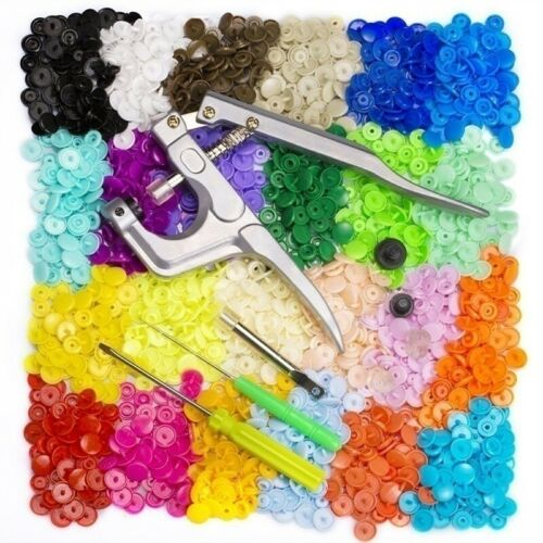 600//1440Pcs DIY T5 Plastic Button Fastener Snap Fastener Resin Stud Kit Crafts