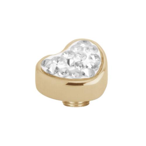 Reprogramación Melano Vivid día de la madre corazón accesorio resin zirkonias//dorado 