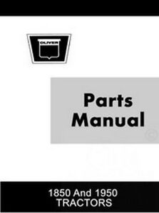 Oliver-1850-and-1950-Tractor-Parts-Catalog-Manual