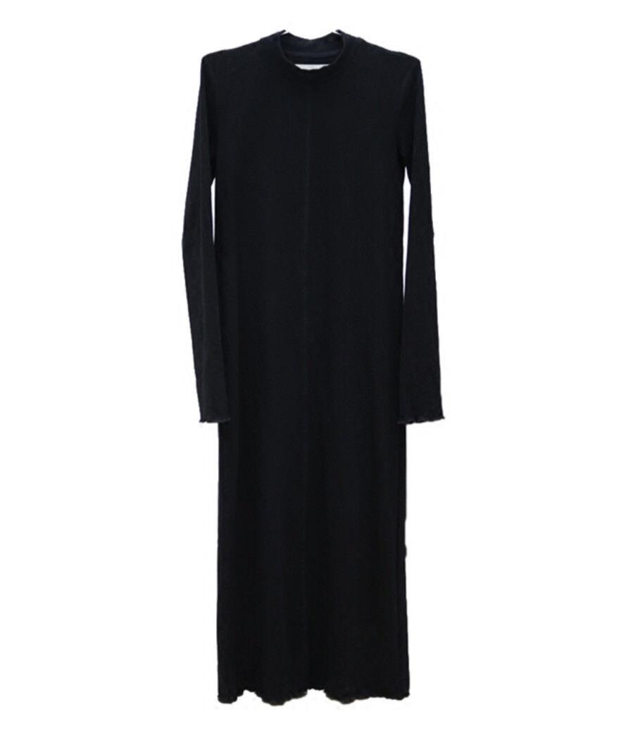 Vestito Donna Abito Lungo a Tunica Collo Alto Woman Maxi Shirt Dress 110327 P