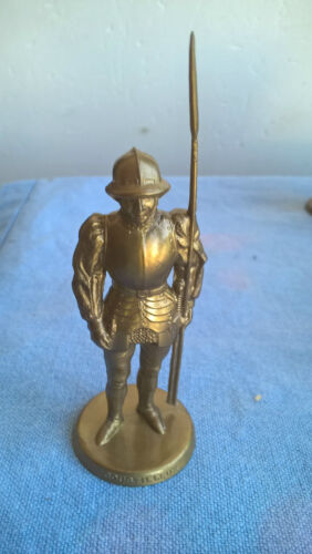 Mokarex Jeu d'échecs figurine dorée Charles le Téméraire Coustilleux Années 60