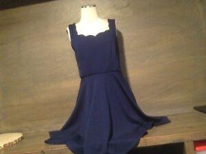 City Studio Womens Navy Blue Sleeveless SKATER CUT Dress Juniors ... 9abfde918