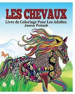 Les-Chevaux-Livre-de-Coloriage-Pour-Les-Adultes-Brand-New-Free-P-amp-P-in-the-UK