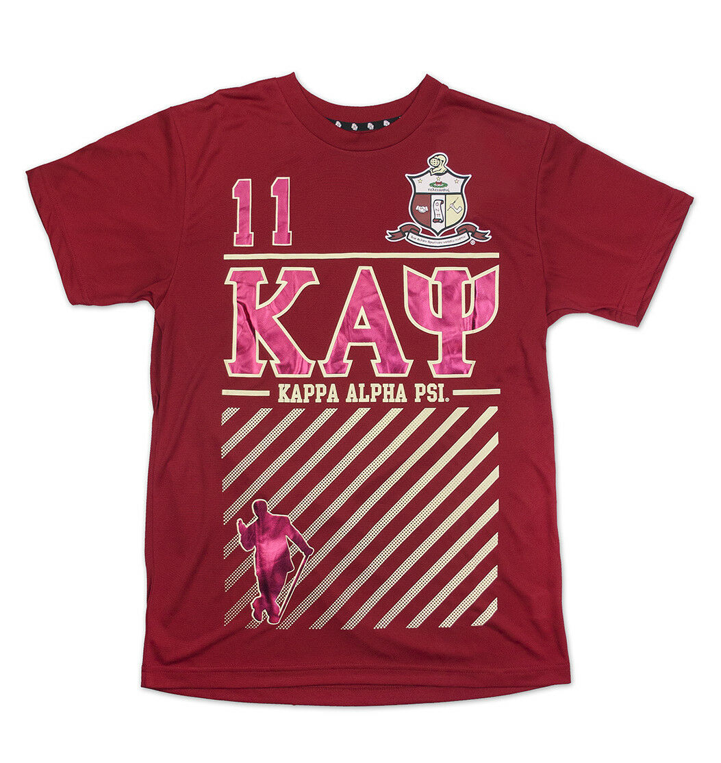 Kappa Alpha Psi Fraternity Mens New Graphic Tee Crimson Red