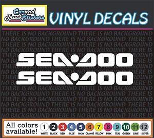One-Pair-SEADOO-car-Truck-JetSki-Waverunner-PWC-window-vinyl-sticker-decal-18-034