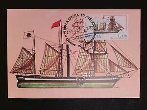 ITALIA-MK-1977-SEGELSCHIFF-SAILING-SHIP-MAXIMUMKARTE-CARTE-MAXIMUM-CARD-MC-c8535