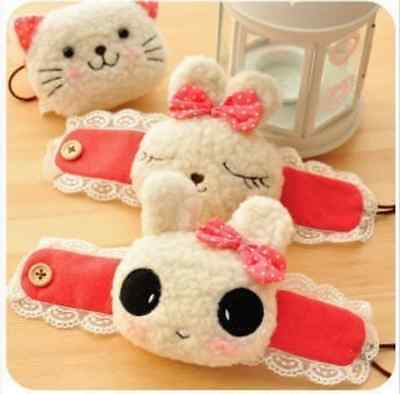 Pink Kawaii Cute Cat Rabbit Panda Curtain holder Tieback Holdback Plush Lace Tie