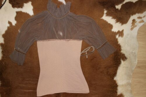 m Peach Knitted Size Top Colour Champagne Rrp£300 S Luxury Amoralle TqwpAA
