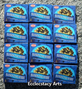 Hem-Incense-Cones-Frankincense-Myrrh-10-20-30-60-100-120-U-Pick-Ship-Free-USA