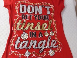 KEEP CALM AND DON/'T GET YOUR TINSEL IN A TANGLE T-SHIRT CHRISTMAS XMAS PRESENT