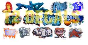 HO Scale Custom Graffiti Decals #30 - Weather Your Box Cars, Hoppers, & Gondolas