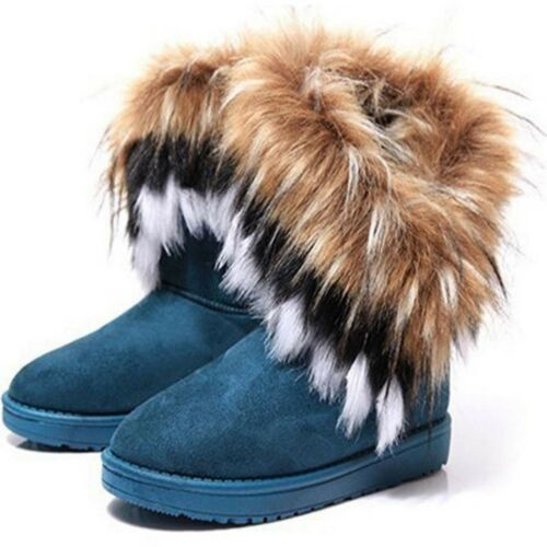 Women/'s con rivestimento in Pelliccia Sintetica Inverno Caldo Stivaletti Da Neve Scarpe Casual Comfort Piatto ca