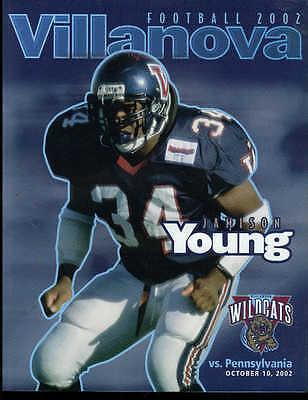 Fan Apparel & Souvenirs Sports Mem, Cards & Fan Shop Candid College Football Program Pennsylvania 2002 Villanova Atlantic 10