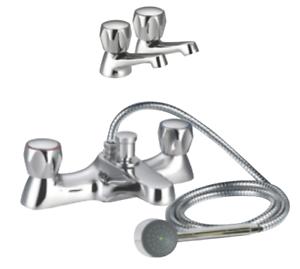 BASIN MONO MIXER HIGH OR LOW PRESSURE TOP QUALITY BATH SHOWER MIXER TAP SET