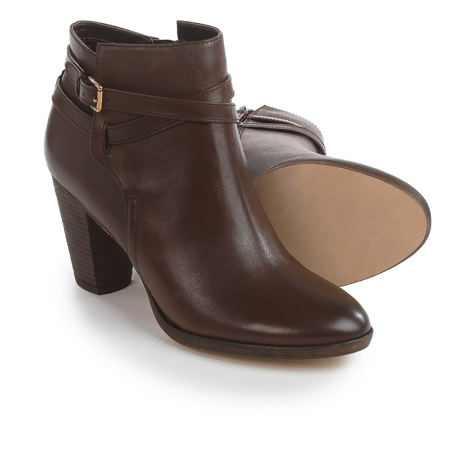 NEW Cole Haan Hayes Belt Ankle stivali, Chestnut Leather, donna Dimensione 11,  280