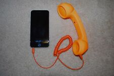 Orange Radiation Proof Retro Mic Cell Phone Handset for Mobile Phone 3.5mm