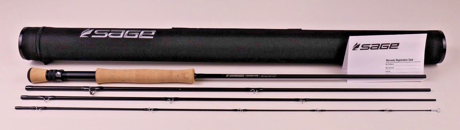 Sage Foundation Fly Rod 9 FT 6 WT with Fighting Butt FREE FAST SHIPPING 691-4