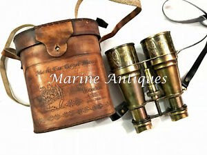 "Antique Maritime Brass Binocular 6/"" Vintage Marine Nautical Telescope Spyglass"