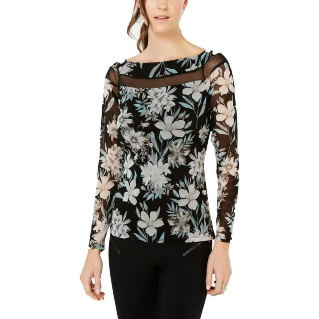 I-N-C Womens Floral Pullover Blouse
