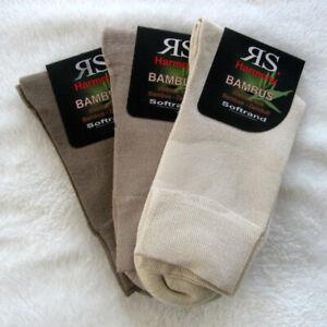 3-Certains-Femmes-Bambou-Chaussettes-Extra-Souple-Bord-sans-Caoutchouc-Nature-35