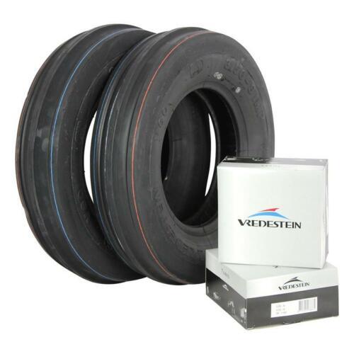 2x 3.50-8 4PR 3-RIB Vredestein V60 Karrenreifen Gartentraktorreifen mit Schlauch