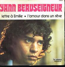 """45T 7"""": Yann Beauseigneur: lettre à émilie. les tréteaux. A13"""