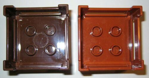 Details about  /Lego Duplo BROWN WOOD CRATE Container Accessory Replacement 2-Piece Lot #6446