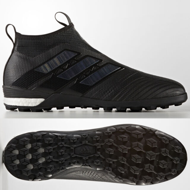 adidas Ace Tango 17+ Purecontrol Mens Astro Turf Football Boots Black Laceless