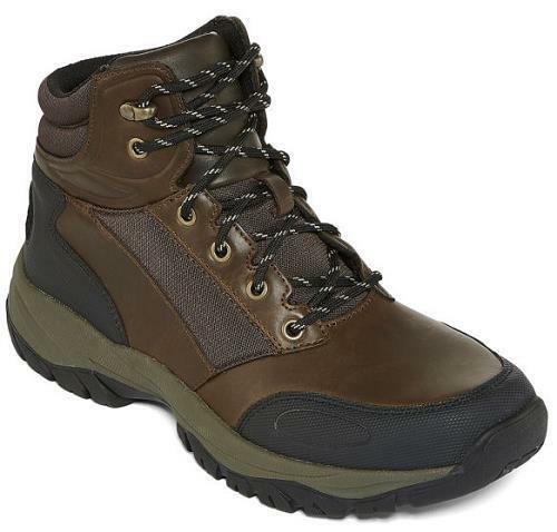 Men's ST JOHNS BAY COMPASS Brown Mid Top Athletic Hiking Boots shoes 625-050 NEW